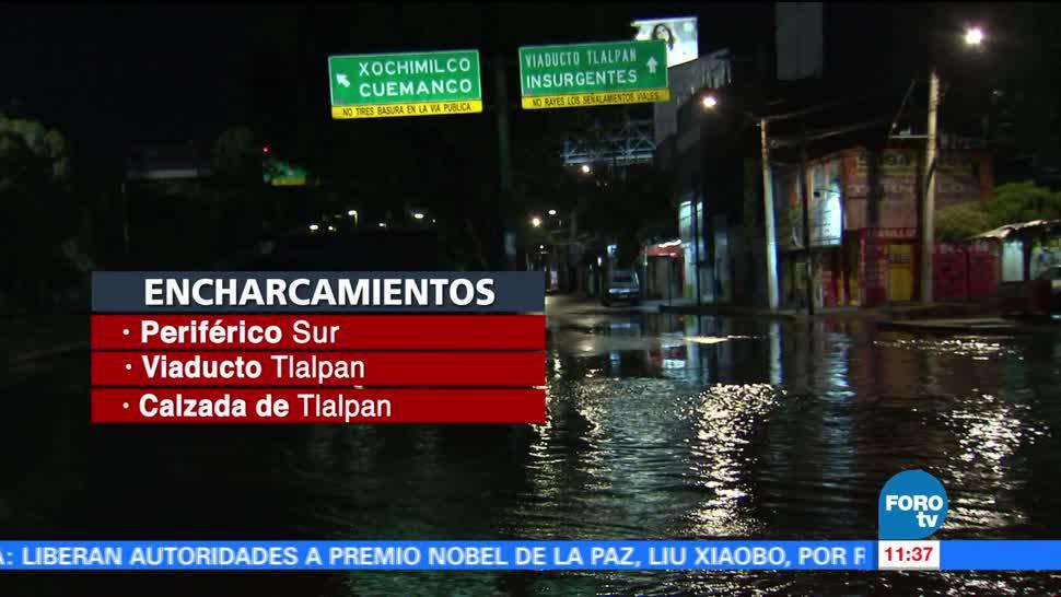 lluvias, afectaciones, encharcamientos, Valle de México