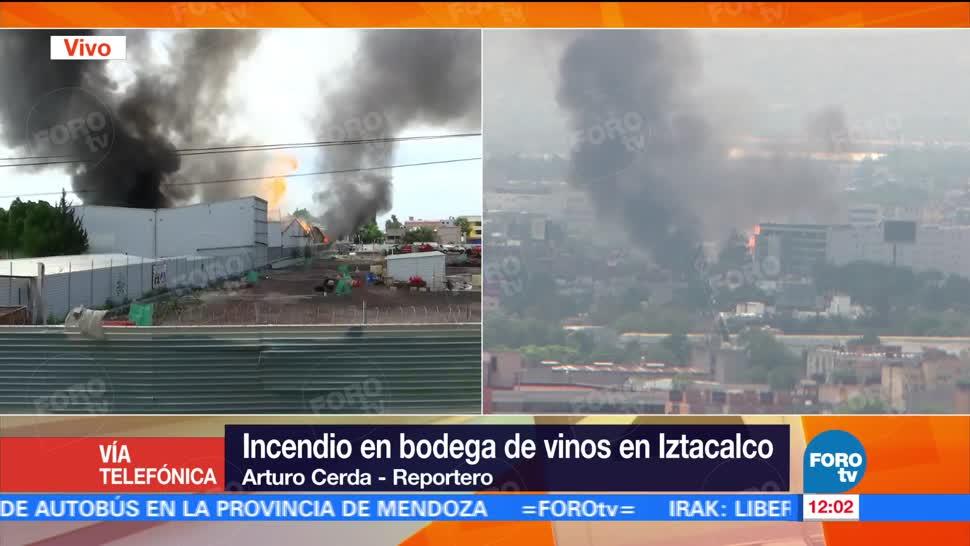 Autoridades capitalinas, clínica del IMSS, bodega de vinos, incendió, delegación Iztacalco