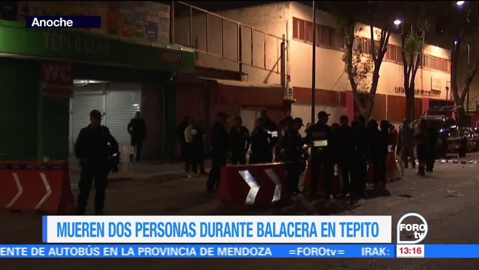 Balacera, deja dos muertos, Tepito, CDMX