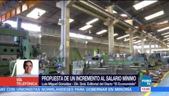 informalidad, difícil, subir salario mínimo, Luis Miguel González