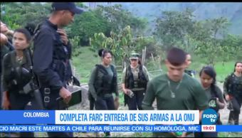 FARC, entrega armamento, ONU, Misión de la ONU