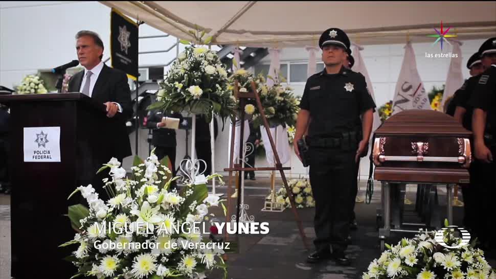 noticias, televisa, Homenaje, mandos PF, asesinados, Veracruz