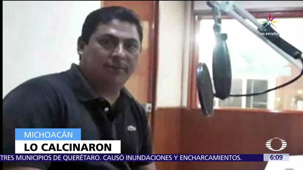 barranca, Michoacán, cuerpo calcinado, periodista, Salvador Adame Pardo