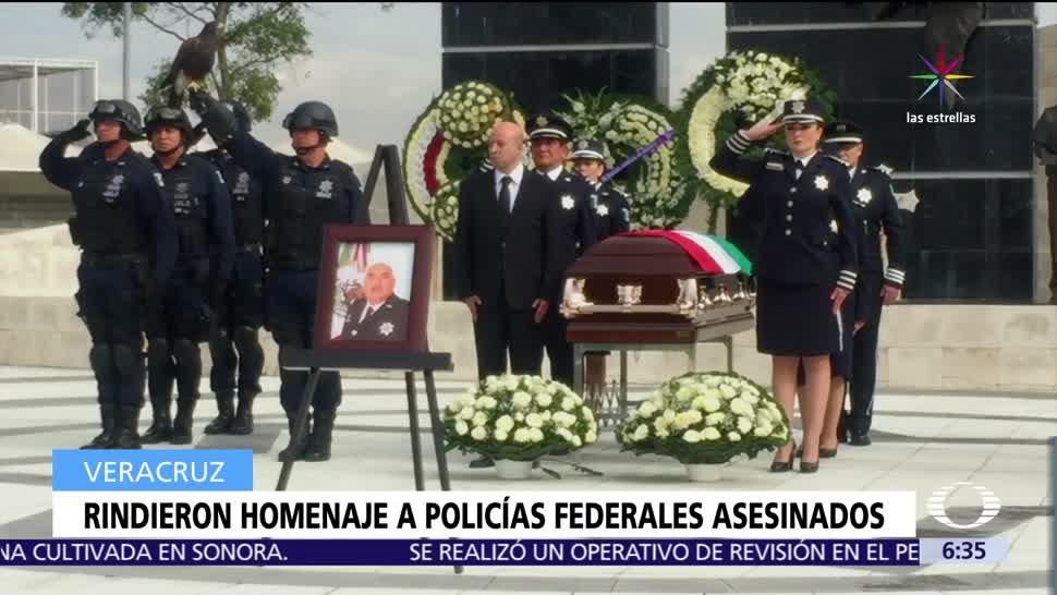 Policía Federal, gobierno de Veracruz, homenaje de cuerpo presente, Juan Camilo Castagné
