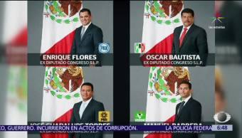 Piden licencia, cuatro diputados, San Luis Potosí, red de corrupción