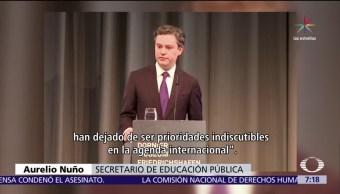 secretario de Educación, Aurelio Nuño, premios Nobel, Alemania, Donald Trump