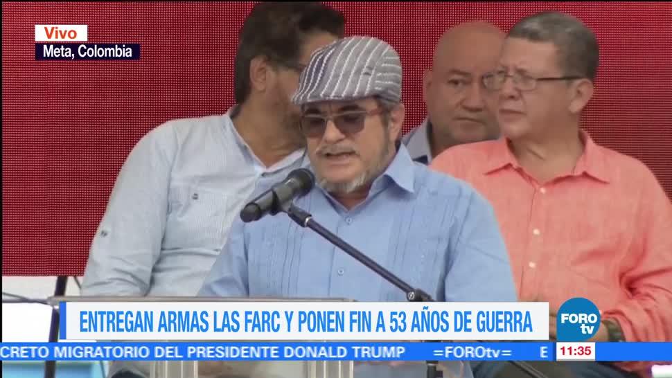 ceremonia, armas de las FARC, 53 años de guerra, Colombia