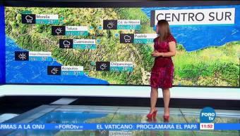 Ciudad de México, temperatura máxima, probabilidad, lluvia