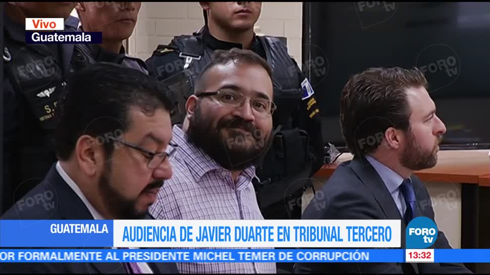 Javier Duarte, Tribunal, Guatemala, exgobernador