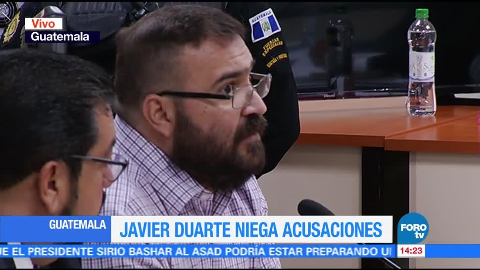 Javier Duarte, rechaza, acusaciones, Guatemala
