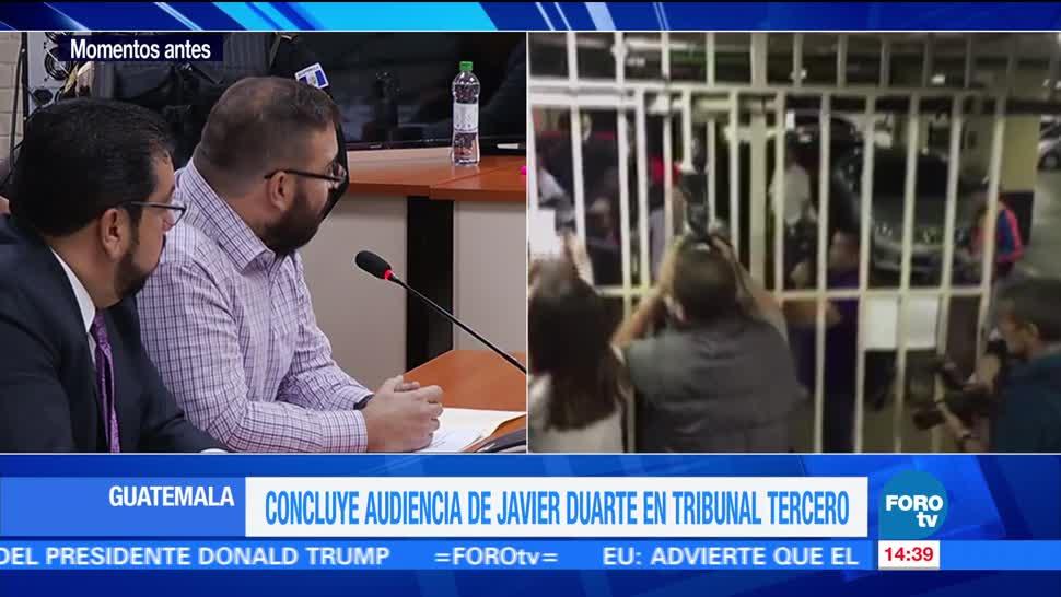 Concluye, audiencia, Duarte, Guatemala