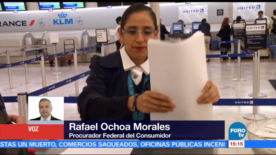 Rafael Ochoa Morales, titular de Profeco, beneficios, vuelos demorados