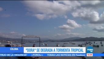 Autoridades, Colima y Jalisco, Dora, tormenta tropical