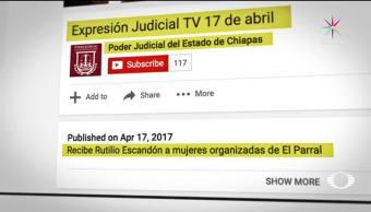 noticias, televisa, Acarreo, funcionarios judiciales, Chiapas, Rutilio Escandón