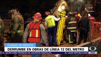 derrumbe, obras, Línea 12 del Metro, CDMX