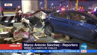 Cinco lesionados, choque de tráiler, México-Puebla