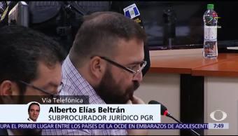 Caso, Javier Duarte, Alberto Elías Beltrán, subprocurador jurídico de la PGR