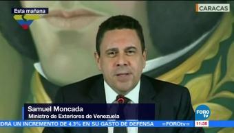 canciller de Venezuela, Samuel Moncada, ataque, Ministerio del Interior, Tribunal Supremo