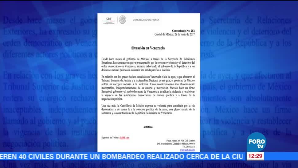 comunicado, Cancillería, violencia, Tribunal Supremo, ataque, Venezuela