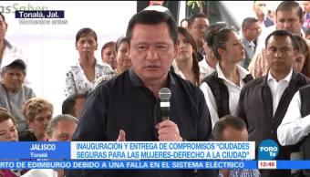 Miguel Ángel Osorio Chong, secretario de Gobernación, inauguración, Ciudad Segura para Mujeres, Tonalá, Jalisco