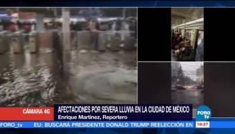 noticias, forotv, Lluvia intensa, inunda, L2, Metro