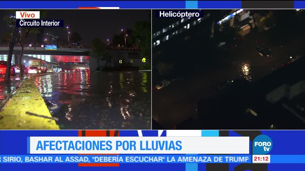 noticias, forotv, Reabren, carril, Circuito Interior, lluvias en la CDMX