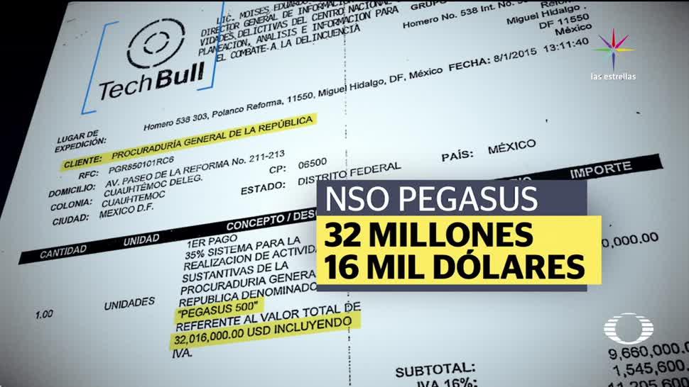 noticias, forotv, contrato, PGR, firmó, Pegasus