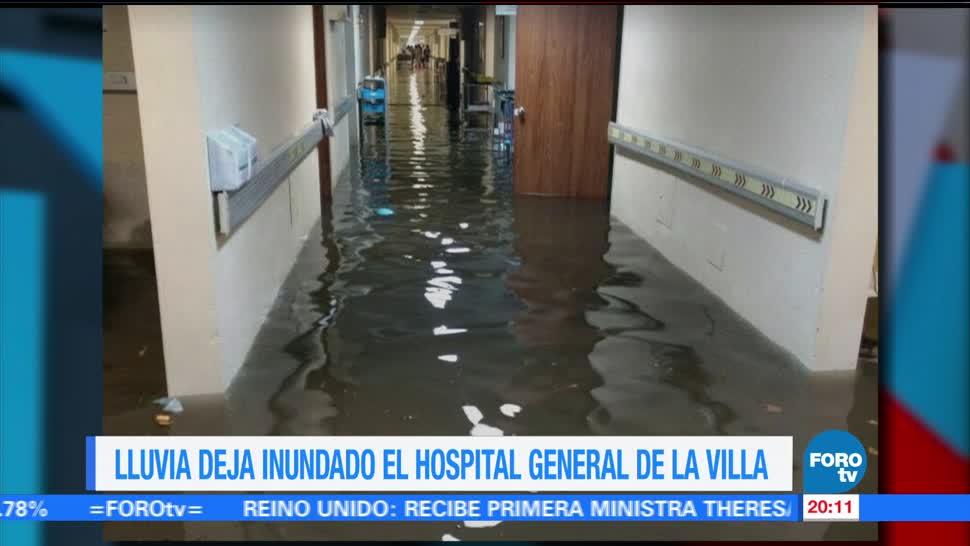 noticias, forotv, inunda, lluvias, Hospital General de La Villa, intensa lluvia