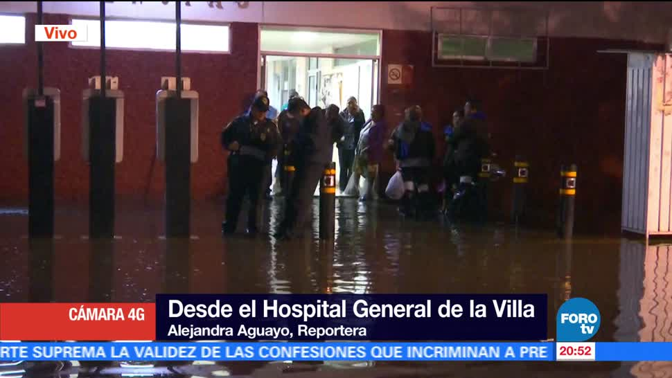 noticias, forotv, Inundación, Hospital de La Villa, medianoche, Hospital General La Villa