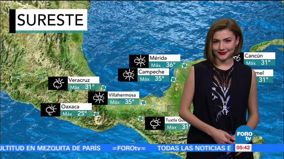 notiicias, forotv, El clima, clima, Lluvias, Daniela Álvarez