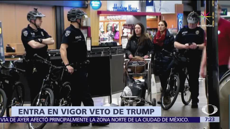 noticias, televisa, Estados Unidos, veto migratorio, Trump, de forma parcial