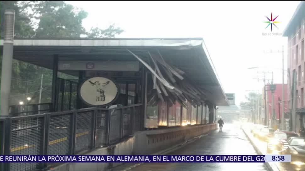 noticias, televisa, Suspenden servicio, estación Iztacalco, Metrobús, CDMX