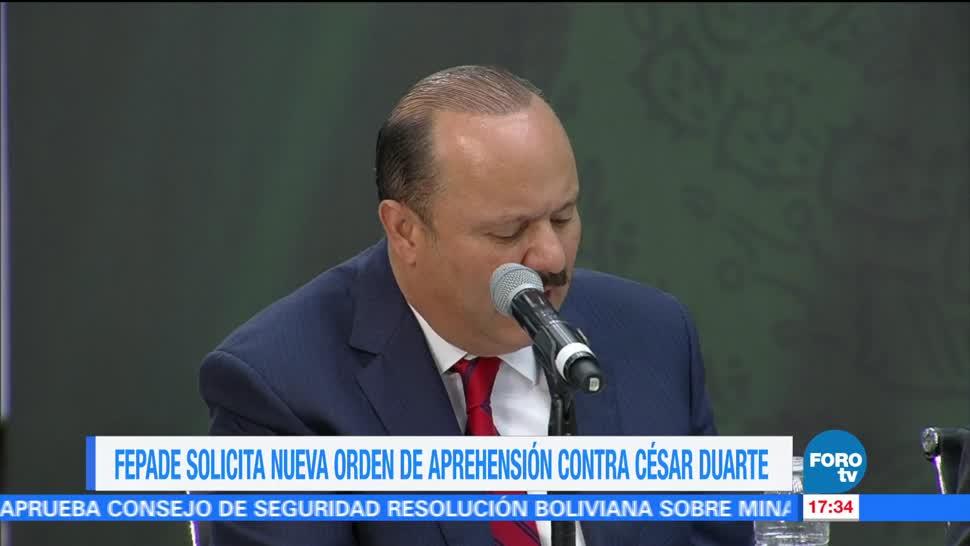 noticias, televisa, Fepade, solicita, nueva orden de aprehensión, César Duarte