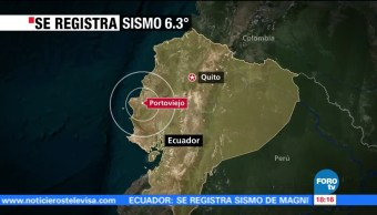 noticias, forotv, sismo, 6.3 grados Richter, costas de Ecuador, ecuador