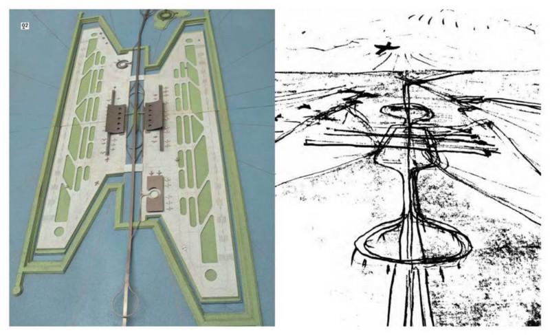 Diseño del aeropuerto para Ciudad Futura