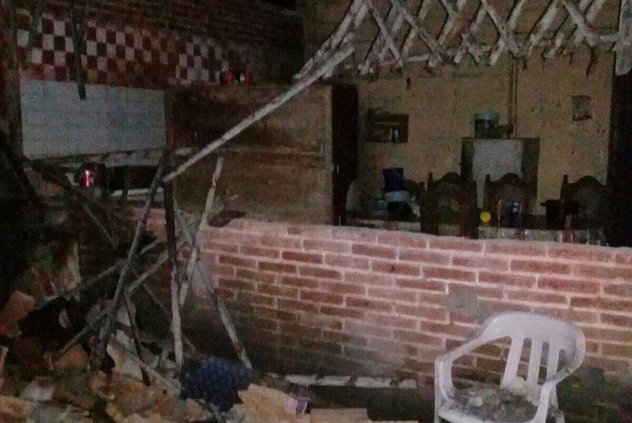 Afectaciones en vivienda de Puerto Madero, Chiapas, tras sismo