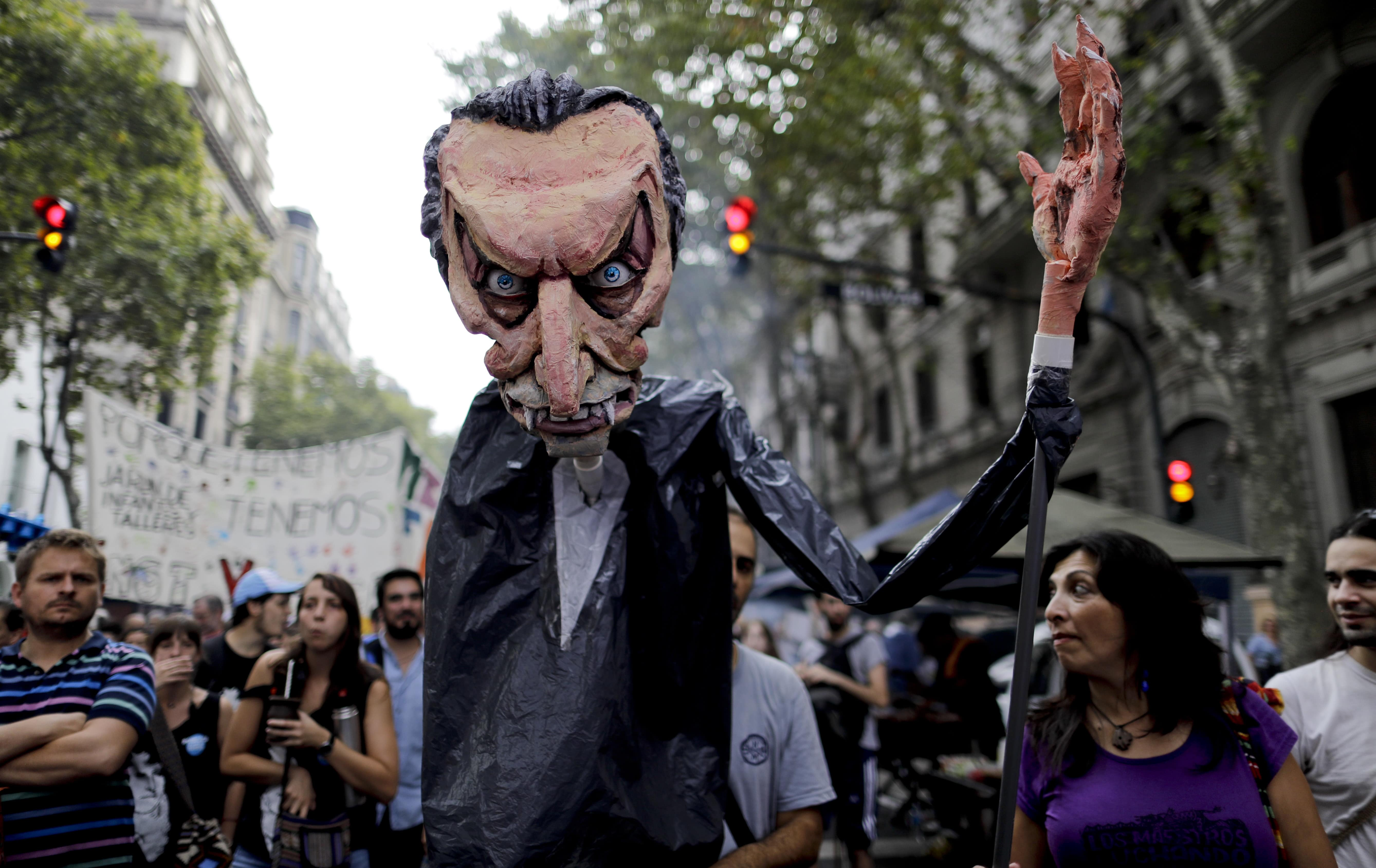 Manifestación contra el caso de corrupción de Odebrecht