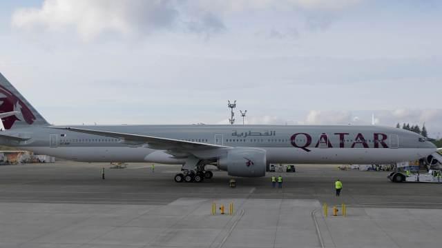 Avión Boeing 777 de Qatar Airways