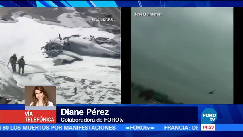 noticias, forotv, Avioneta, estrella, aeropuerto John Wayne, California