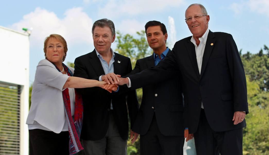 Michelle Bachelet, Juan Manuel Santos, Enrique Pena Nieto, Pedro Pablo Kuczynski