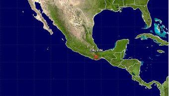 Mapa que muestra ubicación de la baja remanente Calvin