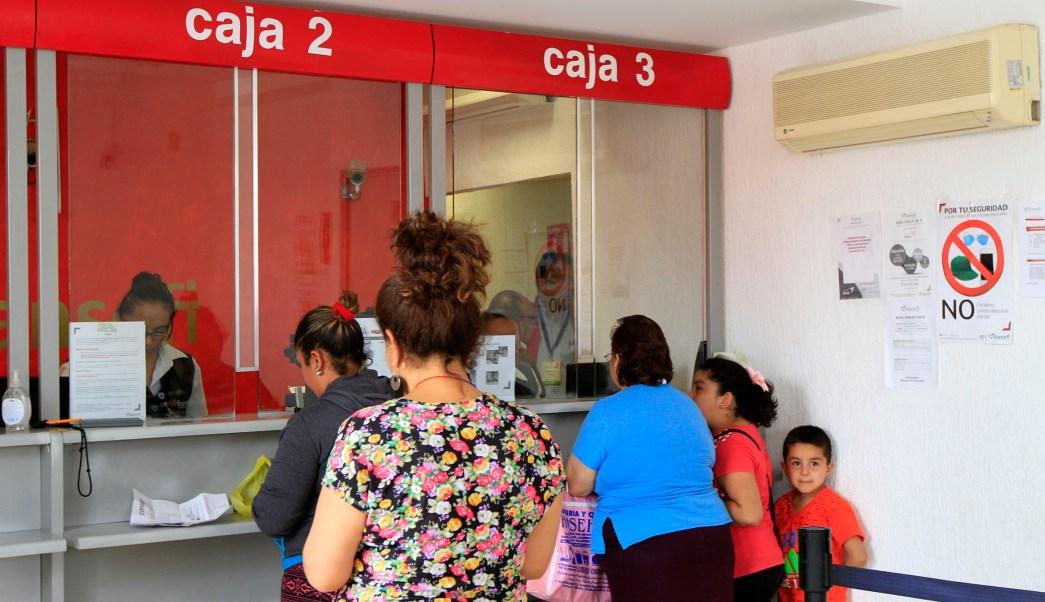 Banco en la ciudad de Morelia, Michoacán