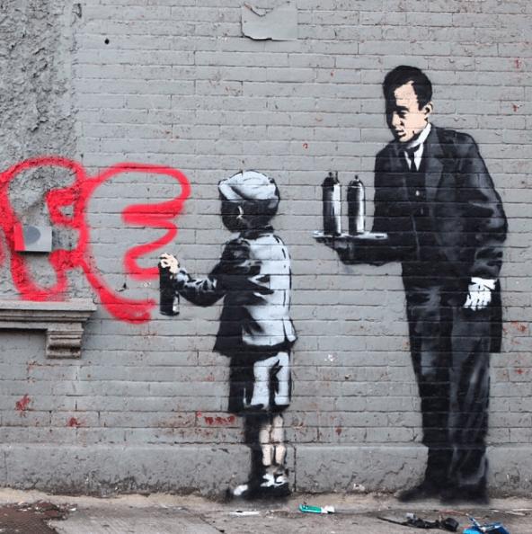 Banksy, identidad, arte, mural, Massive Attack, Robert Del Naja, grafitti