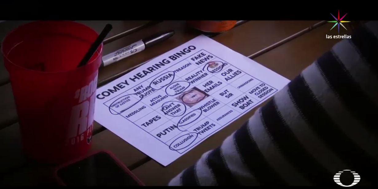 Bares en EU organizan juegos por comparecencia de James Comey