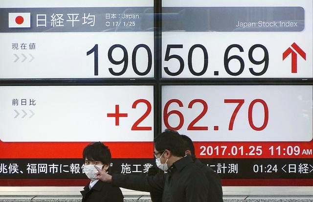 Bolsa de Tokio empieza la semana con números positivos