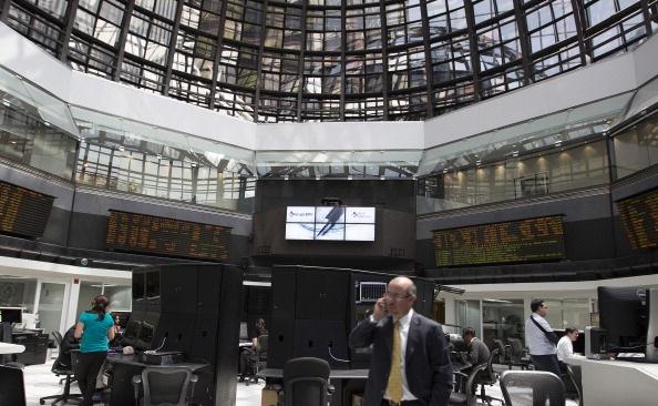 Piso de operaciones en la Bolsa Mexicana de Valores