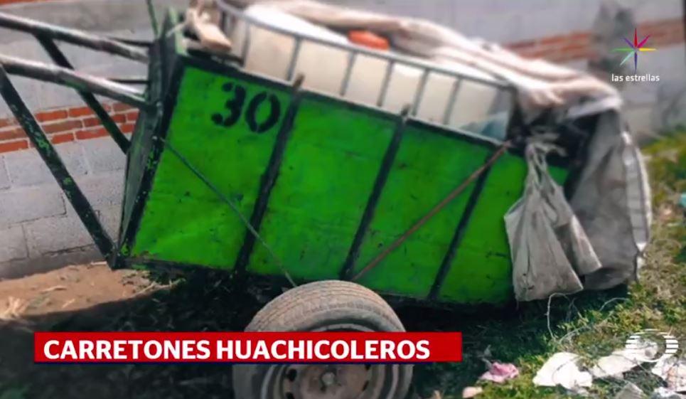 Huachicoleros, combustible robado, puebla, policia,operativos, carretones de basura, pemex