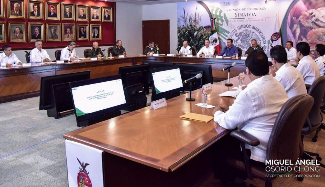 Miguel Angel Osorio Chong, Segob, Grupo de Coordinación Sinaloa, Avances en seguridad, Combate al crimen organizado, noticias