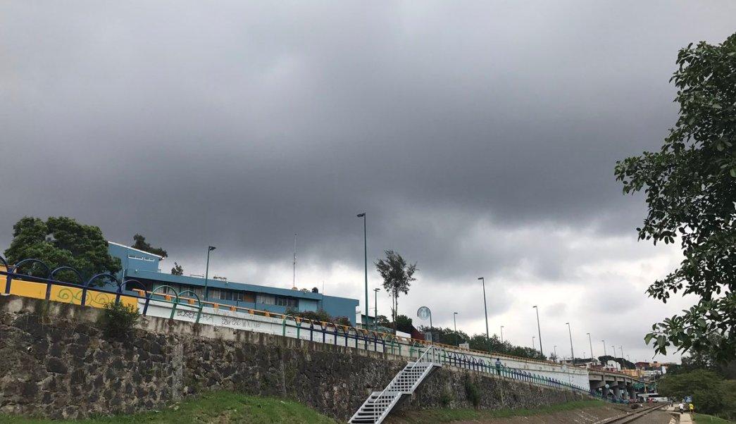El cielo nublado en Xalapa, Veracruz