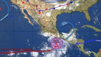 Imagen de fenómenos meteorológicos en la República Mexicana (Twitter: @conagua_clima)